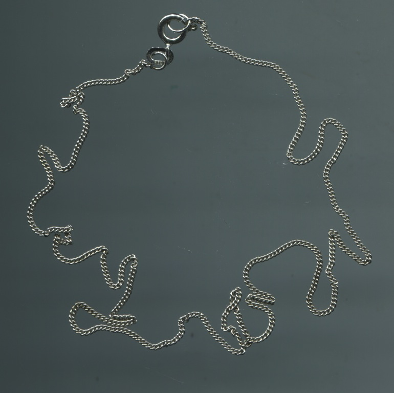 ltere h bsche 835 silber kette silberkette rhodiniert zarte glieder 40 cm lang ebay. Black Bedroom Furniture Sets. Home Design Ideas