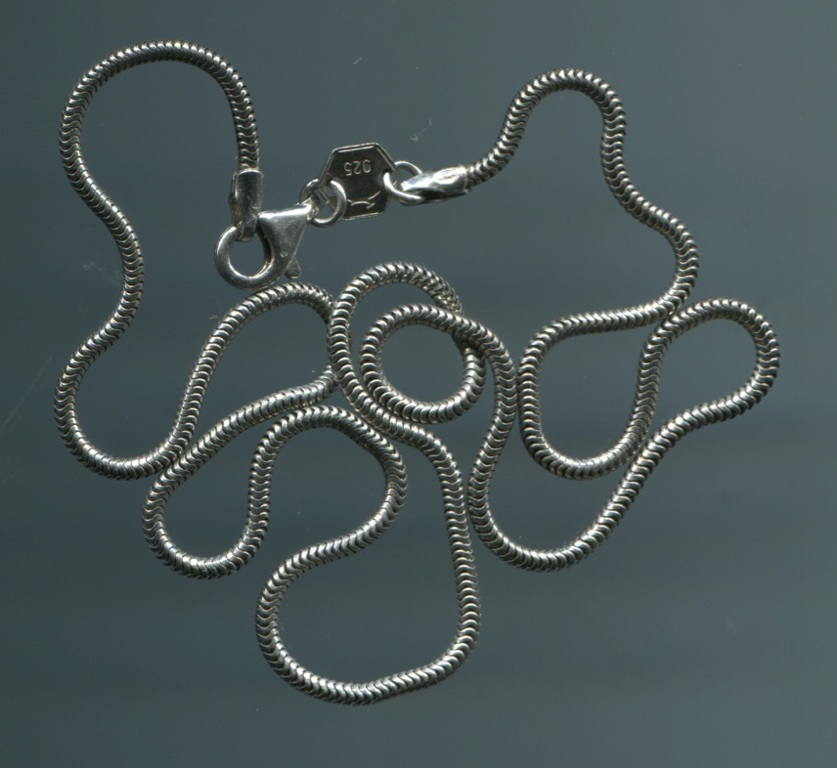 lter sch ne 925 silber kette schlangenkette punze reh rhodiniert ca 40 cm ebay. Black Bedroom Furniture Sets. Home Design Ideas